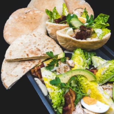Cobb Salad Sour Dough Pitta