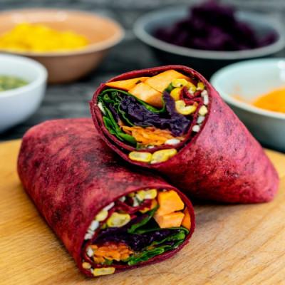 Eat the Rainbow Beetroot & Chia Wrap
