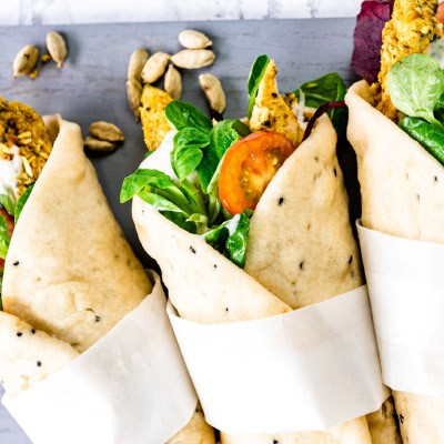 Indian Spiced Chicken Naan Wraps