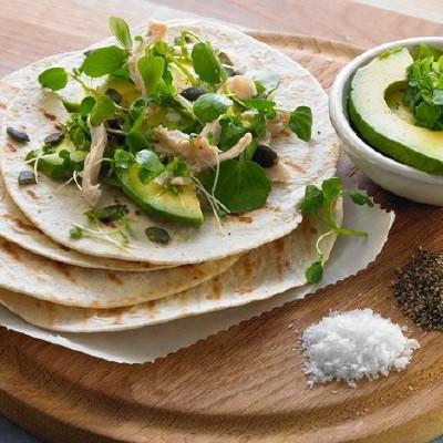 Nutritious Chicken & Avocado Tortilla Wrap