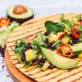 Spicy Jerk Black Beans With Avocado & Pineapple Salsa